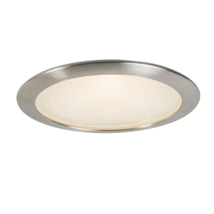 Faretto-da-incasso-grande-'Splash-19'-design-blanco/vetro---adatto-per-LED-/-esterno,-interno,-bagno