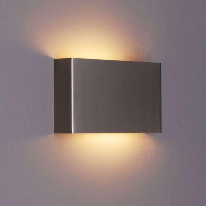 Applique-'Otan'-design-acciaio---adatto-per-LED-/-interno