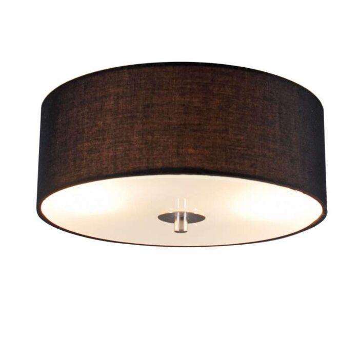 Lampada-da-soffitto-Country-nera-30-cm---Tamburo