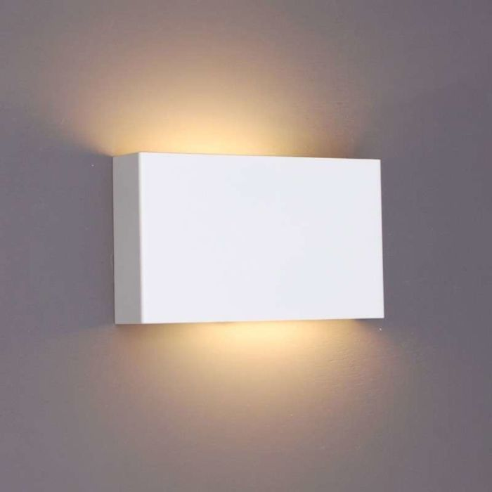 Applique-'Otan'-design-blanco/metallo---adatto-per-LED-/-interno