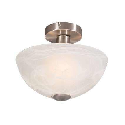 Plafoniera-con-paralume-'milano'-classico-blanca/vetro---adatta-per-LED-/-interna