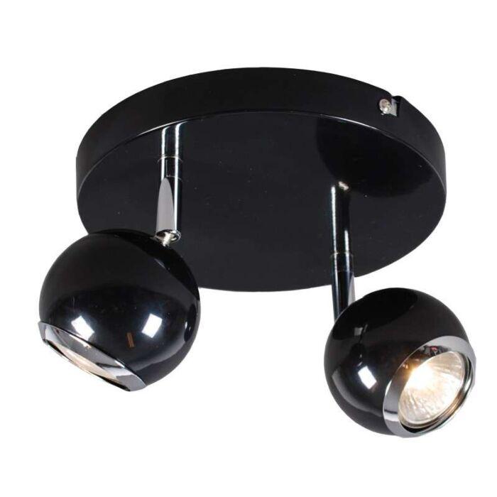 Faretto-'Buell-2'-retro-nero/metallo---adatto-per-LED-/-interno