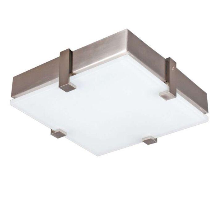 Plafoniera-'Crook-25'-moderna-blanca/vetro---adatta-per-LED-/-interna
