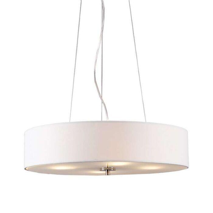 Lampada-a-sospensione-'Drum-50-Short'-moderna-blanca/tessuto---adatta-per-LED-/-interna
