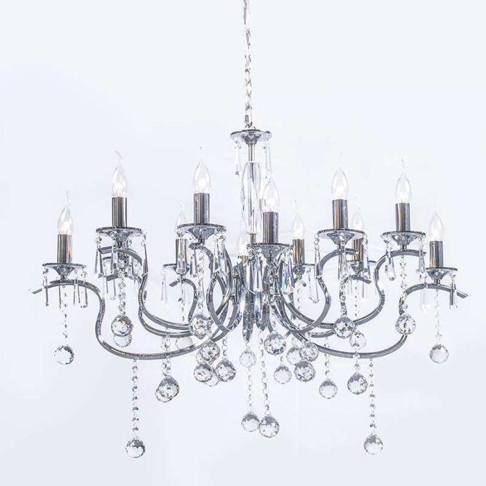 Lampadario-grande-'Ann-Sophie-12'-art-deco-cromo---adatto-per-LED-/-interno