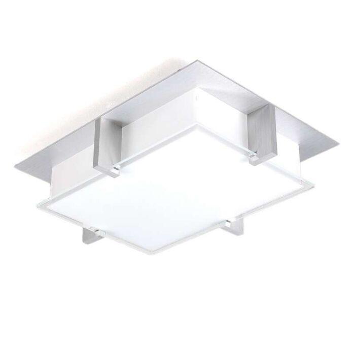 Plafoniera-con-paralume-'Eston-25'-design-blanca/vetro---adatta-per-LED-/-interna