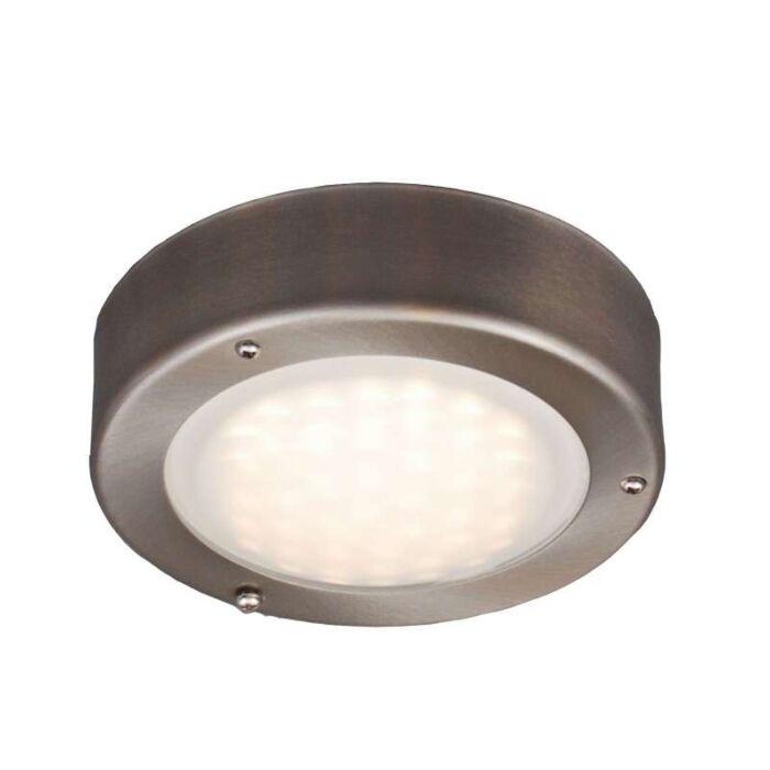Lampada-da-soffitto/parete-'Saygo-R'-moderna-acciaio-inossidabile---include-LED-/-esterna,-interna,-bagno