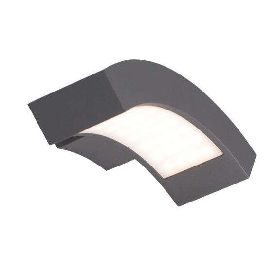 Applique-'Sweden'-moderno-carbone/alluminio---include-LED-/-esterno