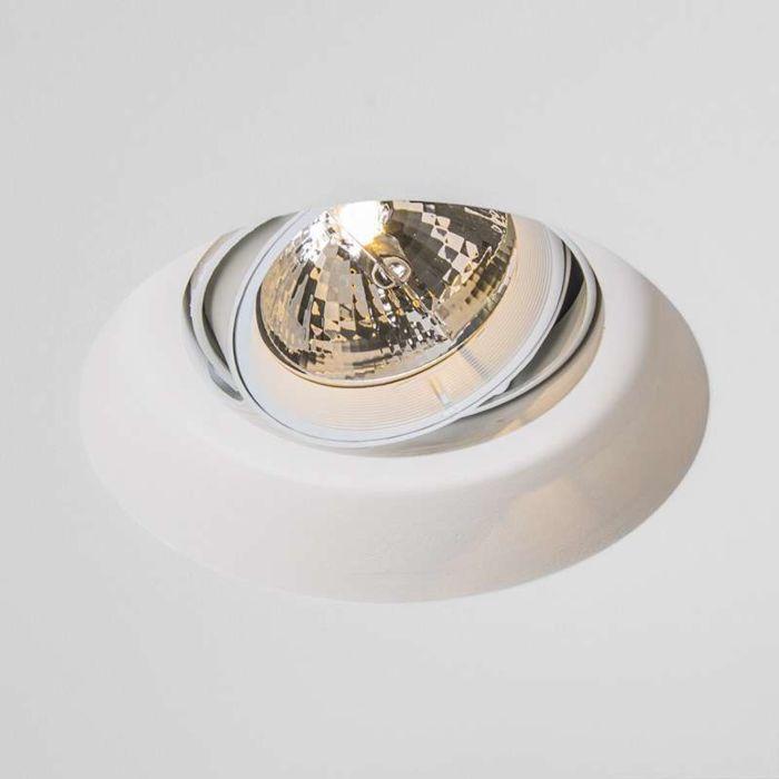Faretto-da-incasso-'Gipsy-Zero-R-I-AR111'-moderno-blanco/intonaco---adatto-per-LED-/-interno
