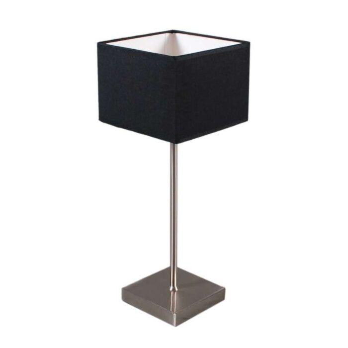 Lampada-da-tavolo-con-paralume-'VT-Small'-moderna-nera/tessuto---adatta-per-LED-/-interna