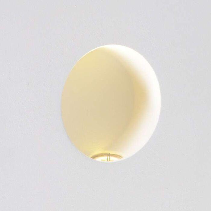 Faretto-da-incasso-parete-tondo-moderno-bianco-incl.-LED---ZERO