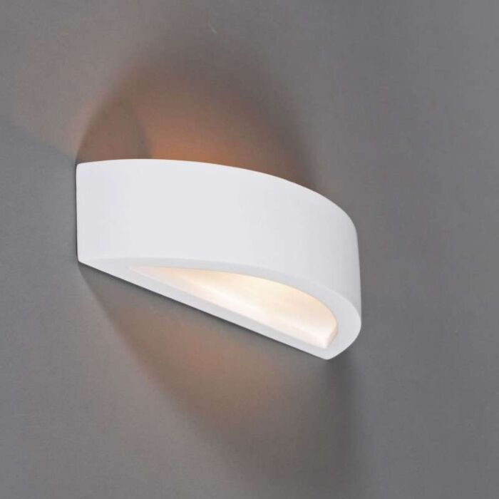 Applique-'Gipsy-Arc'-moderno-blanco/intonaco---adatto-per-LED-/-interno