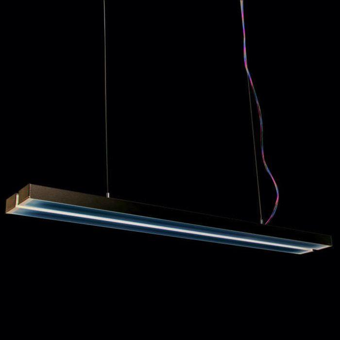 Lampada-a-sospensione-'Tube-Q-Double-2-x-28W'-moderna-grigia/alluminio-interna