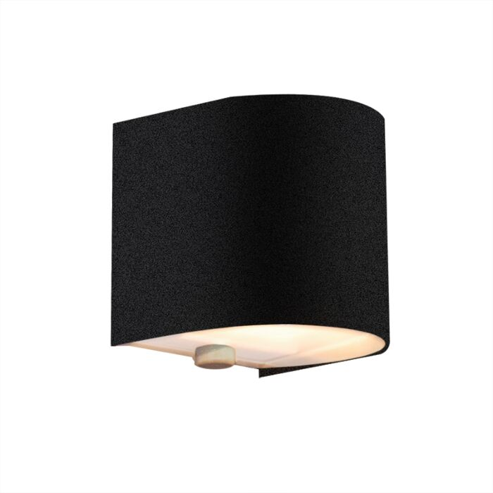 Applique-'Torci'-design-nero/metallo---adatto-per-LED-/-interno