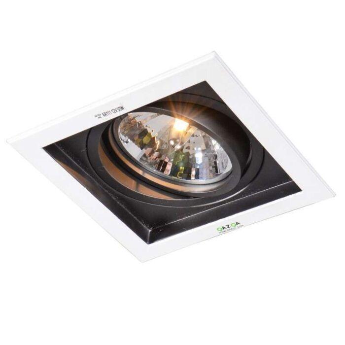 Faretto-da-incasso-grande-'Ultra-QR'-design-blanco/metallo---adatto-per-LED-/-interno