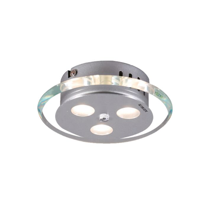 Plafoniera-'Credo-R-19'-moderna-trasparente/vetro---include-LED-/-interna