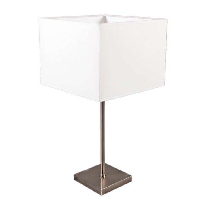 Lampada-da-tavolo-con-paralume-'VT-Large'-moderna-blanca/tessuto---adatta-per-LED-/-interna