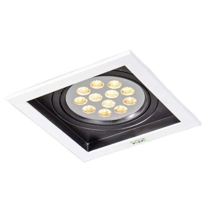 Faretto-da-incasso-grande-'Ultra-LED'-design-blanco/metallo---include-LED-/-interno