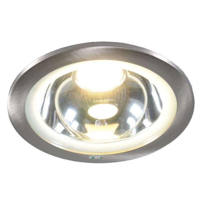 Faretto-da-incasso-grande-'New-Lumiled-XL'-moderno-acciaio---include-LED-/-esterno,-interno