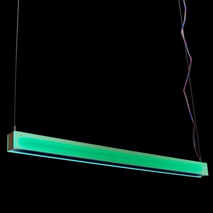 Lampada-a-sospensione-'tube-R-28W'-moderna-rossa/plastica-interna