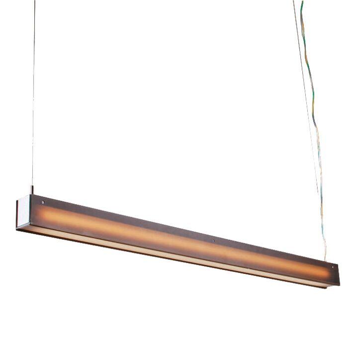 Lampada-a-sospensione-'tube-R-28W'-moderna-caffè/plastica-interna