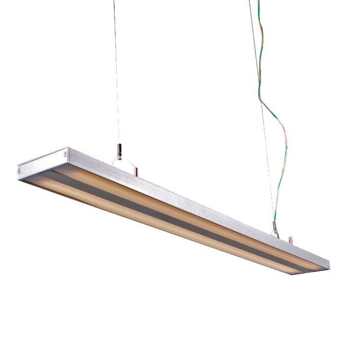 Lampada-a-sospensione-'Tube-S-2-x-28W'-moderna-grigia/alluminio-interna