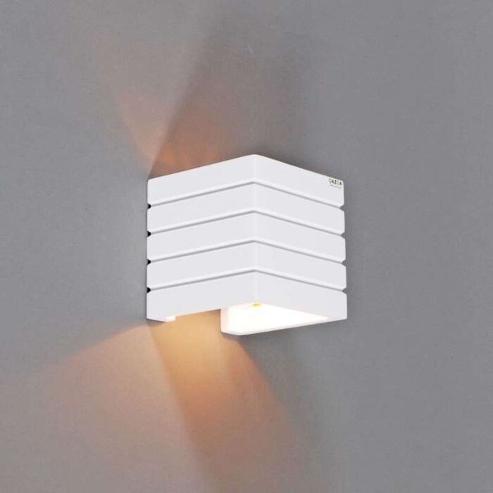 Applique-'Gipsy-Nice'-moderno-blanco/intonaco---adatto-per-LED-/-interno