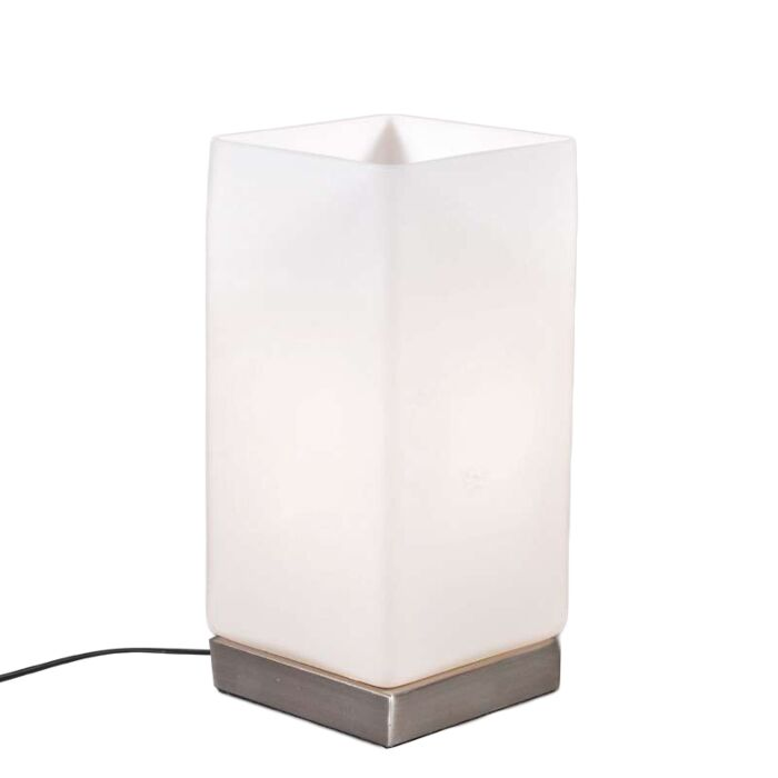 Lampada-da-tavolo-'Accu'-moderna-blanca/vetro---adatta-per-LED-/-interna