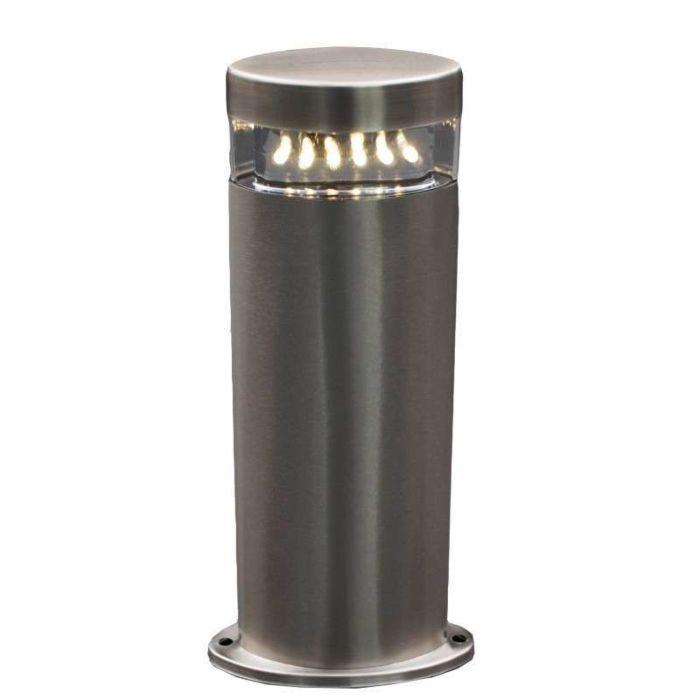 Palo-da-terrazza-'Delta-30'-moderno-acciaio---include-LED-/-esterno