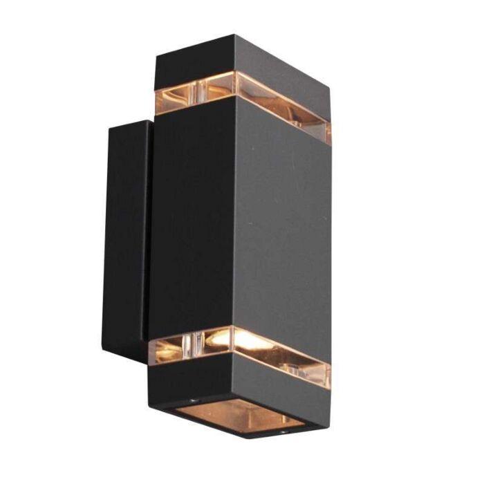 Applique-'Montana-2'-moderno-carbone/alluminio---adatto-per-LED-/-esterno