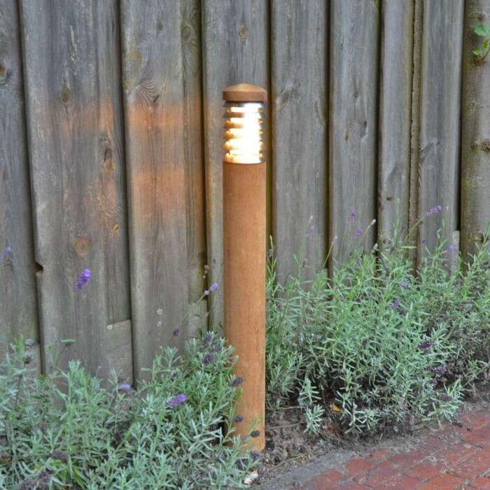 Palo-da-terrazza-'Pole-70'-rustico-caffè/legno---adatto-per-LED-/-esterno