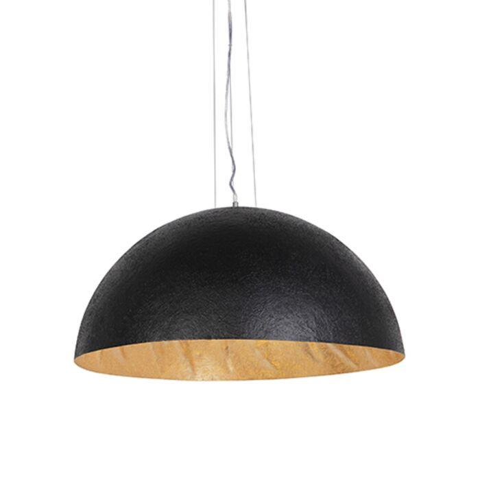 Lampada-a-sospensione-industriale-nera-con-oro-70-cm---Magna
