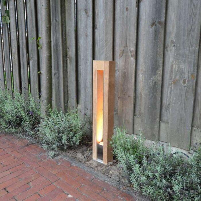 Palo-da-terrazza-'Pontis-70'-rustico-caffè/legno---adatto-per-LED-/-esterno