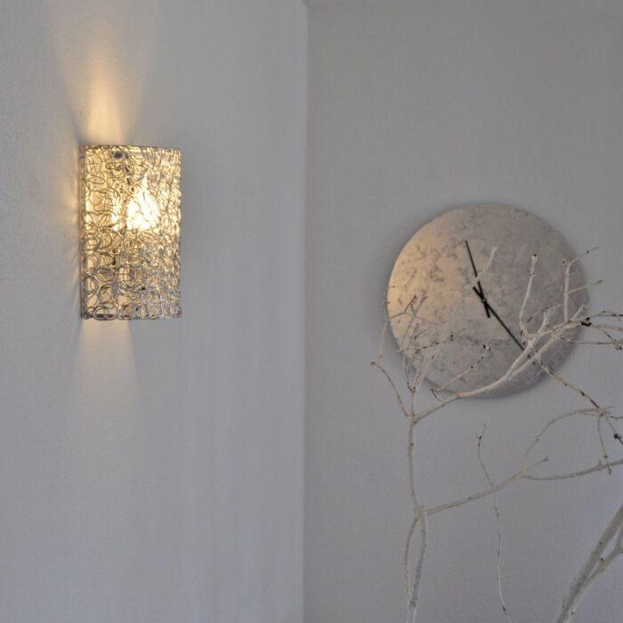 Applique-'Draht'-moderno-alluminio---adatto-per-LED-/-interno