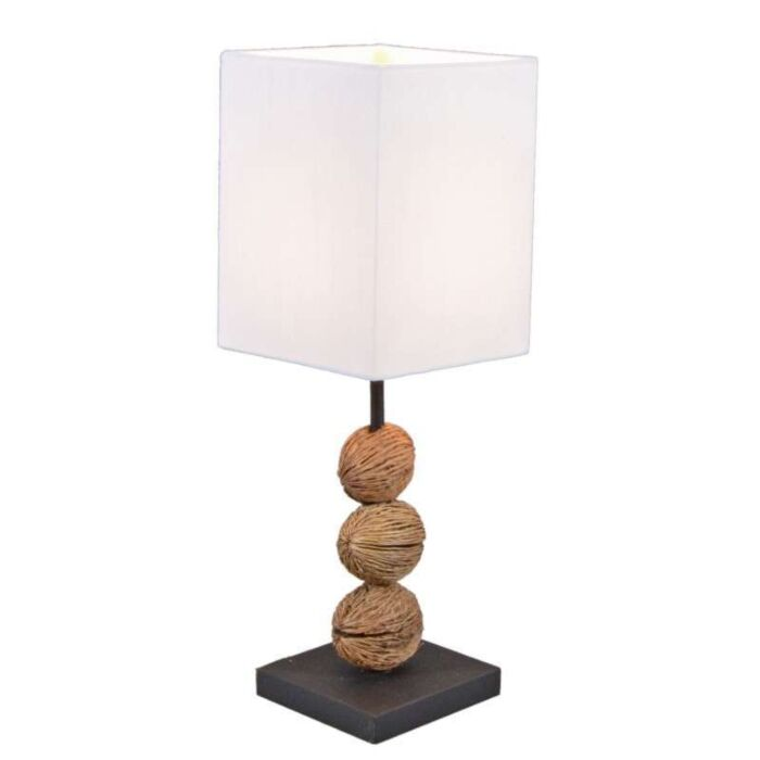 Lampada-da-tavolo-'Tasanee'-moderna-blanca/tessuto---adatta-per-LED-/-interna