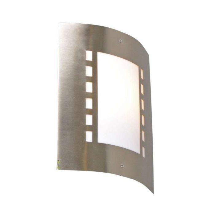 Applique-'Emmerald'-moderno-acciaio---adatto-per-LED-/-esterno