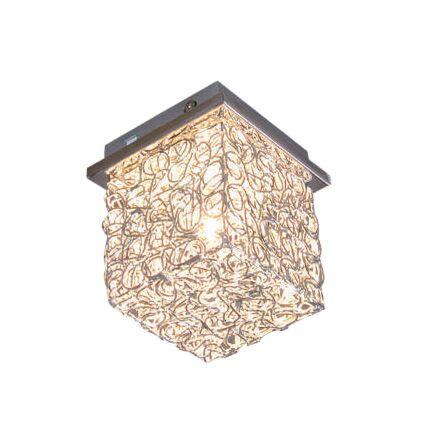 Plafoniera-'Draht-Square-S'-moderna-alluminio---adatta-per-LED-/-interna