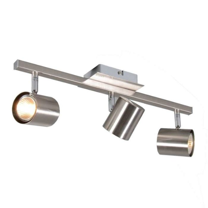 Faretto-'Attractive-3'-moderno-acciaio---adatto-per-LED-/-interno