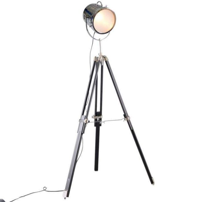 Lampada-da-terra-'Tripod-Bucket'-design-cromo---adatta-per-LED-/-interna