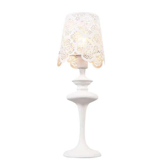 Lampada-da-tavolo-'Lace'-classico-blanca/metallo---adatta-per-LED-/-interna