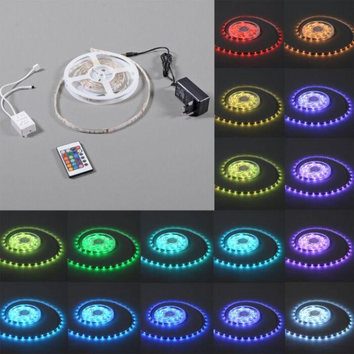 Illuminazione-flessibile-a-LED-RGB-'IP65-3m'-moderna-multicolore/plastica---include-LED-/-esterna,-interna,-bagno