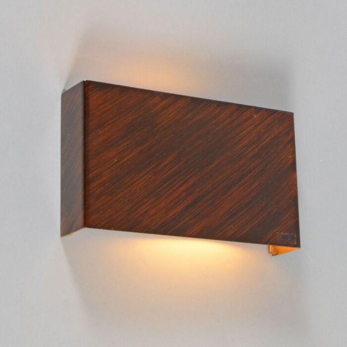 Applique-'Otan'-rustico-marrone-ossido/metallo---adatto-per-LED-/-interno