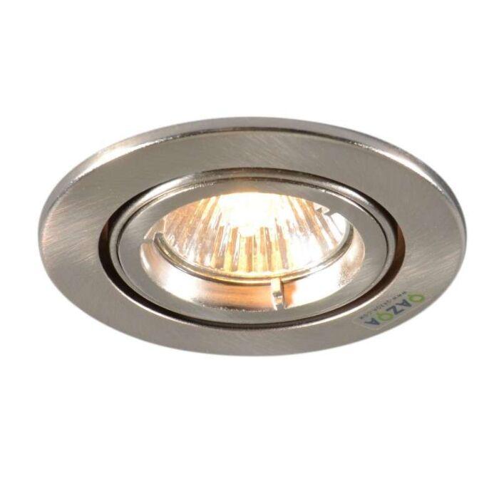 Faretto-da-incasso-'Safe-R'-moderno-acciaio---adatto-per-LED-/-interno