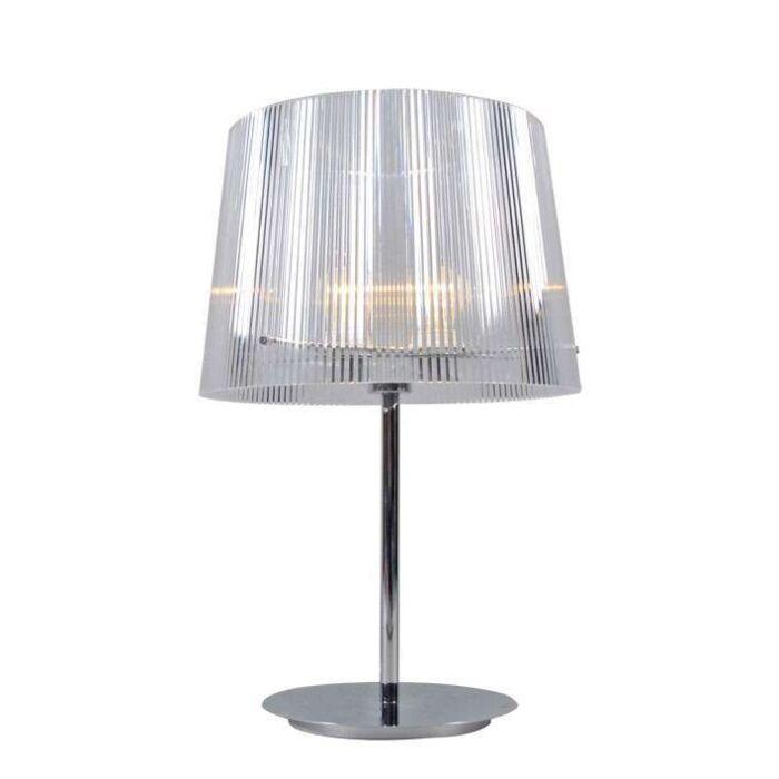 Lampada-da-tavolo-'Letrak'-moderna-trasparente/plastica---adatta-per-LED-/-interna