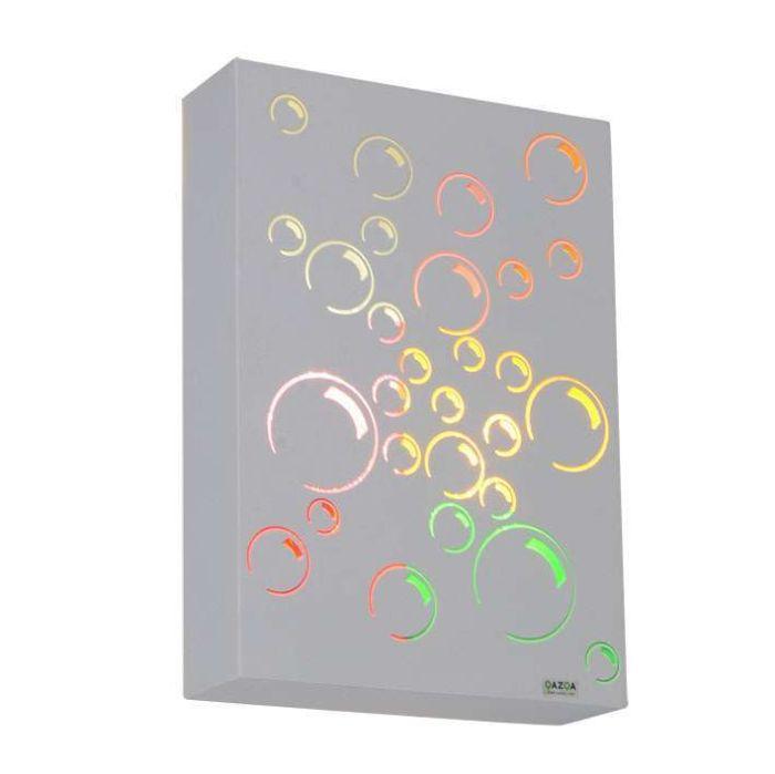 Applique-'Bubbles'-infantile-multicolore/metallo---adatto-per-LED-/-interno