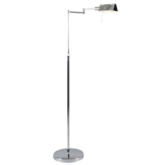 Lampada-da-terra-regolabile-'Sugar'-moderna-cromo---adatta-per-LED-/-interna