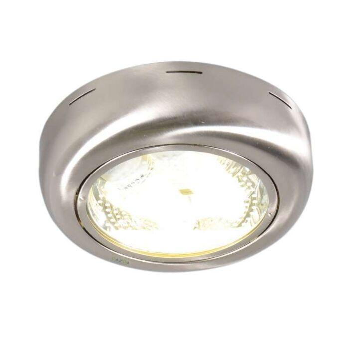 Plafoniera-'Doblo-R'-moderna-acciaio---adatta-per-LED-/-interna