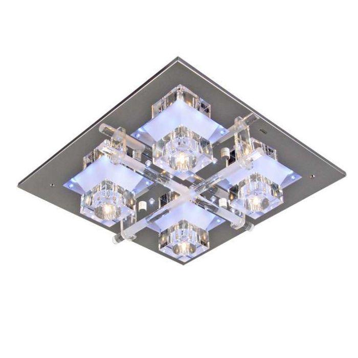 Plafoniera-'Ilum-4'-design-trasparente/vetro---adatta-per-LED-/-interna