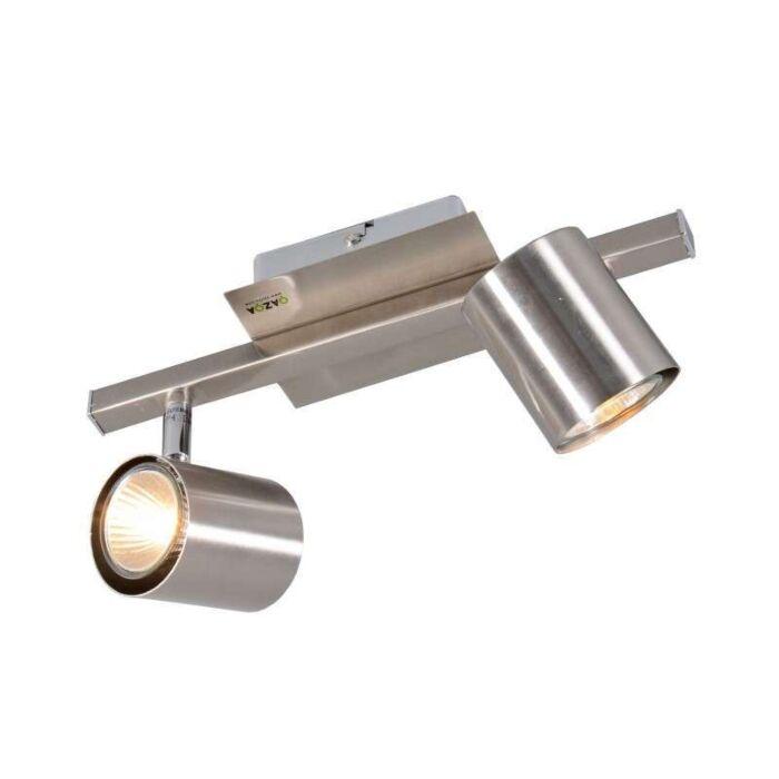 Faretto-'Attractive-2'-moderno-acciaio---adatto-per-LED-/-interno