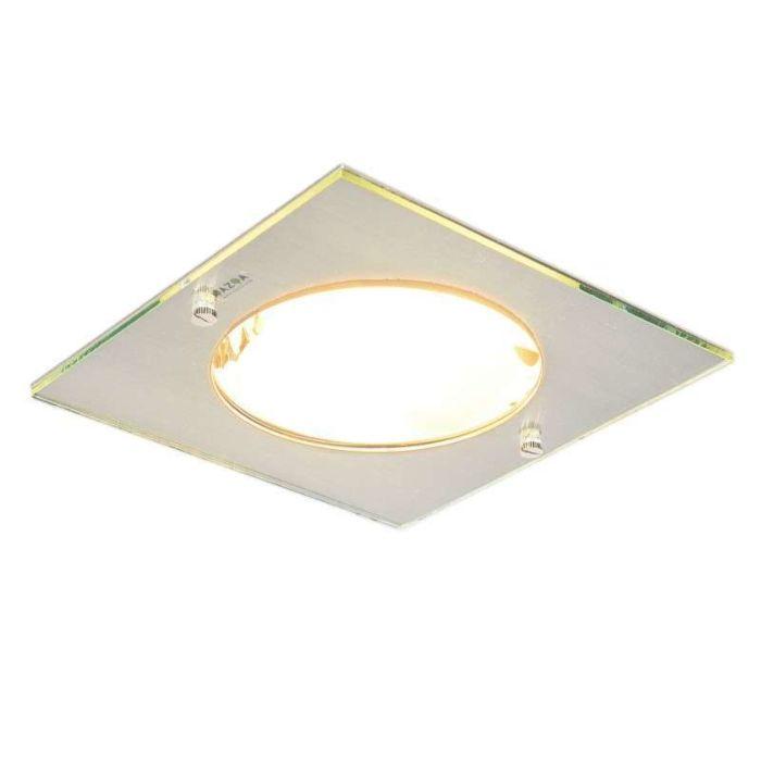 Faretto-da-incasso-'Doblo-Delux-Q'-moderno-acciaio---adatto-per-LED-/-interno